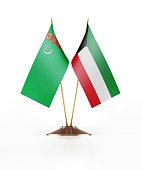 Miniature Flag of Turkmenistan and Kuwait