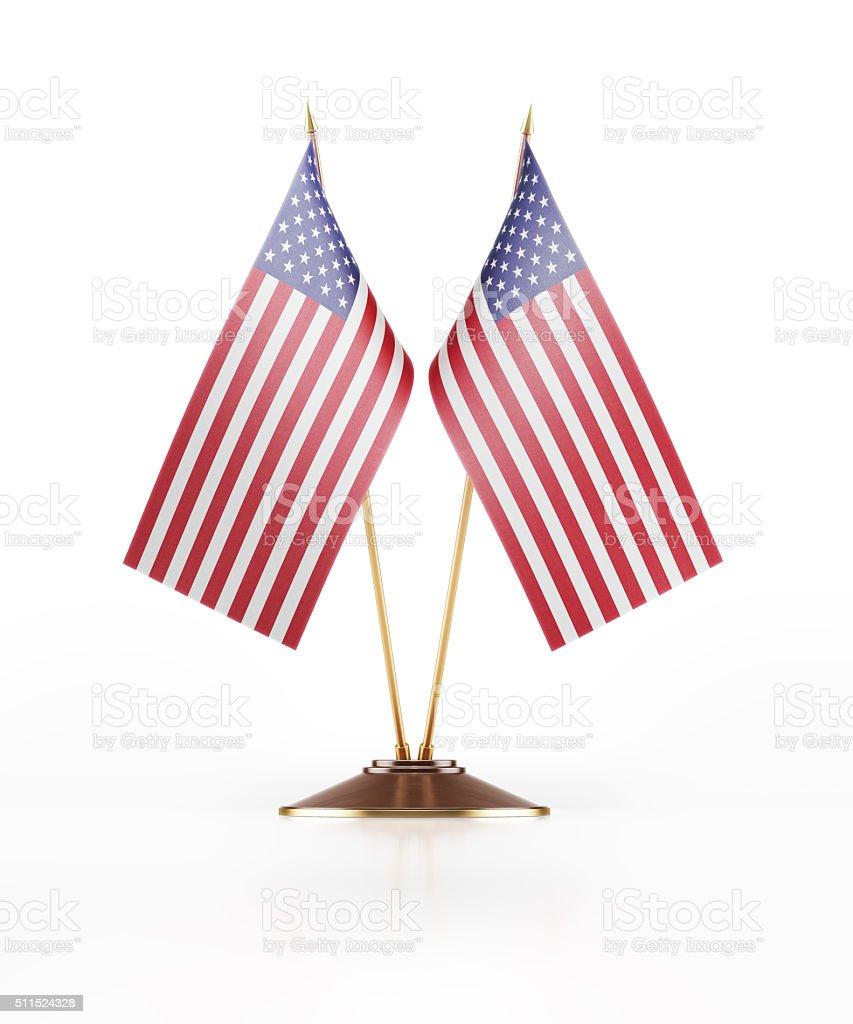 Miniature Flag of United States of America stock photo