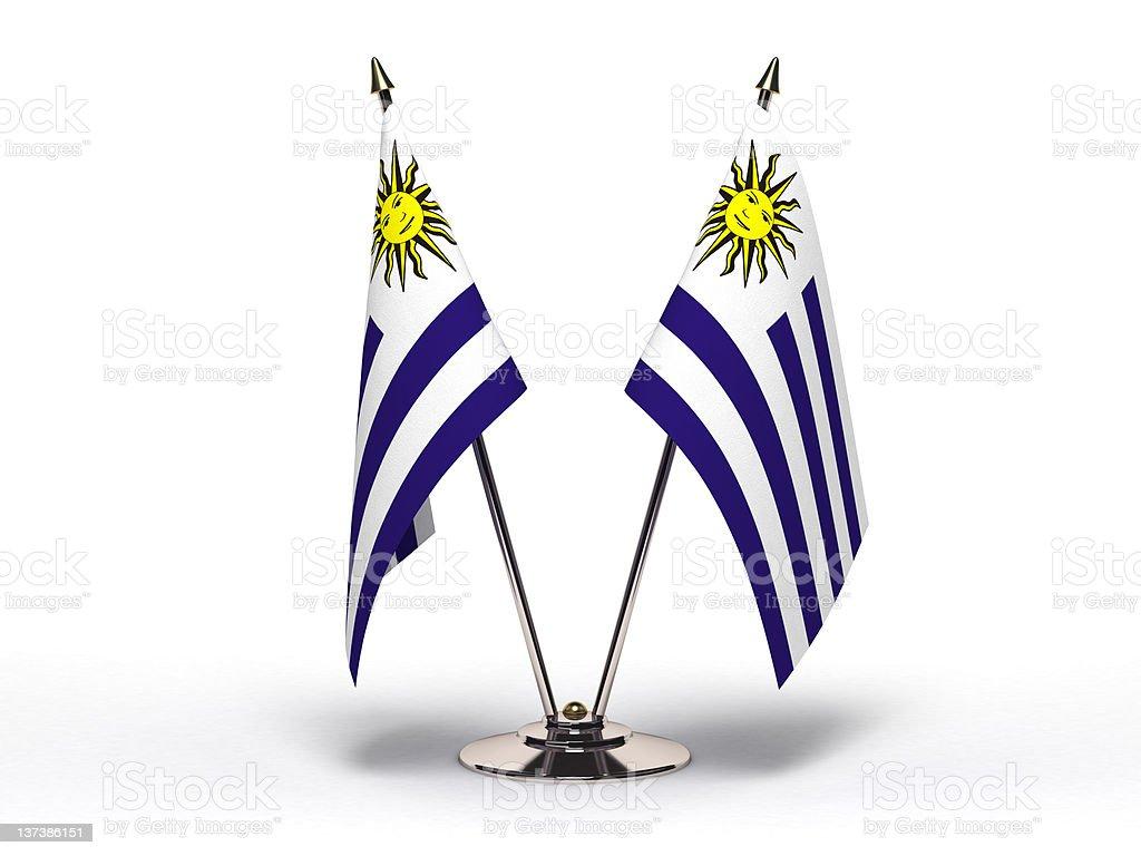 Miniature Flag of Uruguay (Isolated) stock photo