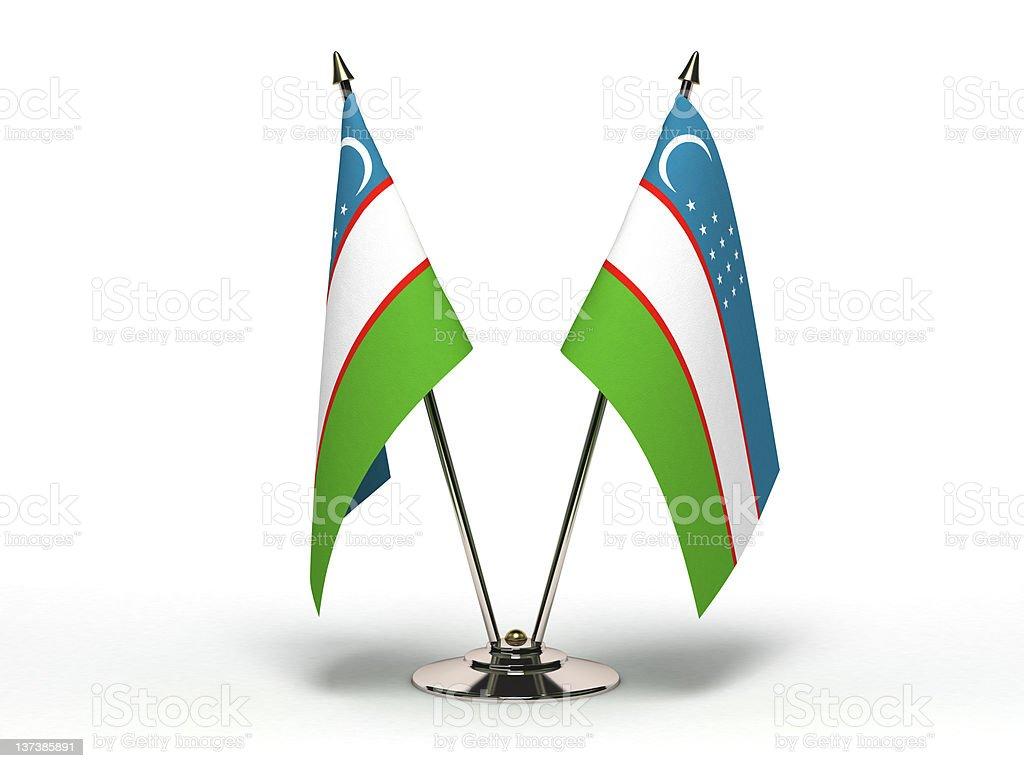 Miniature Flag of Uzbekistan (Isolated) stock photo