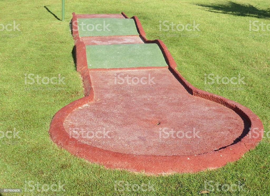 Miniature golf Course stock photo