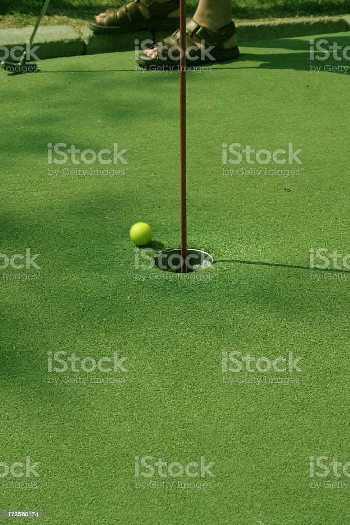 Minigolf royalty-free stock photo