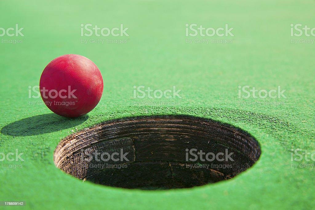 Miniature golf royalty-free stock photo