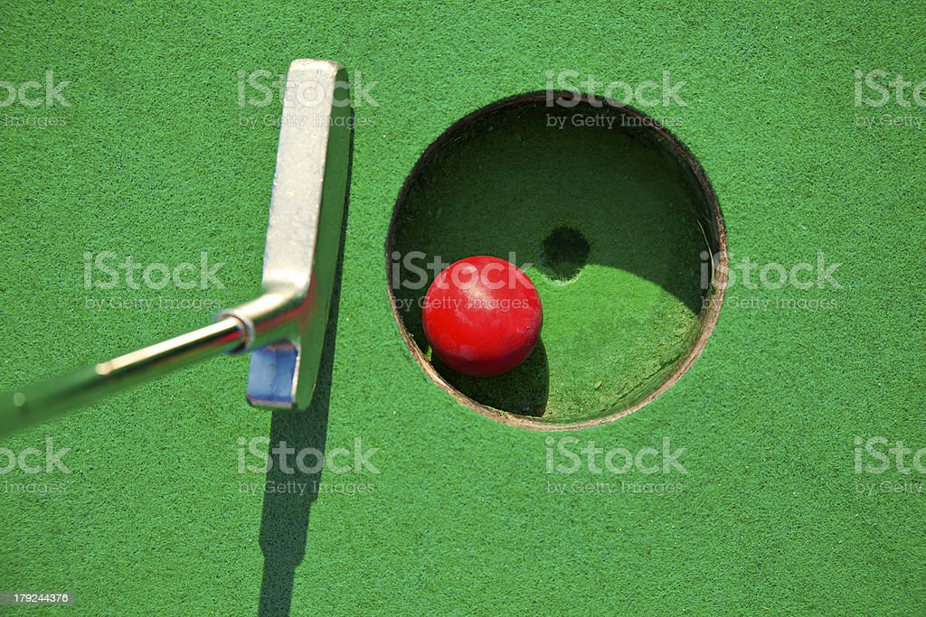Miniature golf royalty-free stock photo