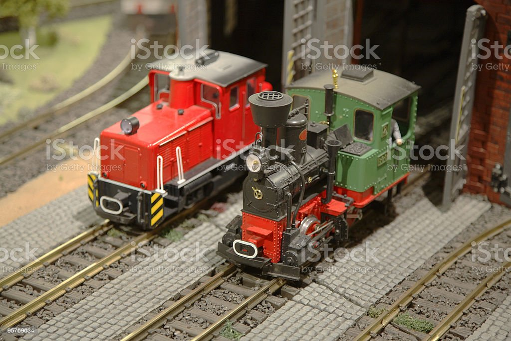 Miniature Locomotives royalty-free stock photo