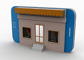 Miniature of home in smartphone