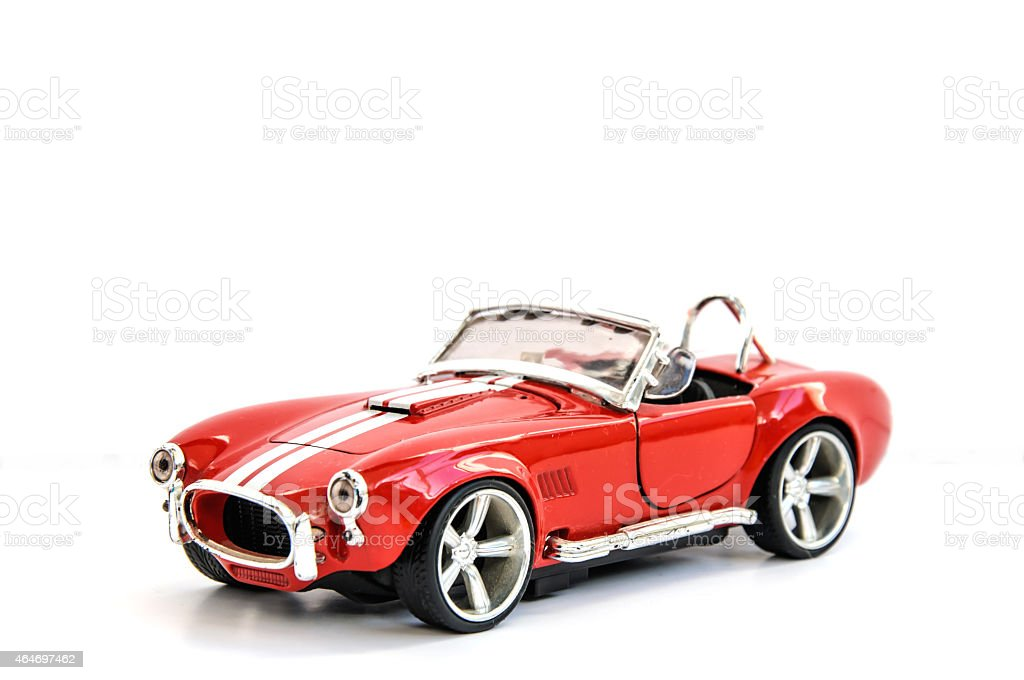 Miniature of retro red car (die cast) stock photo