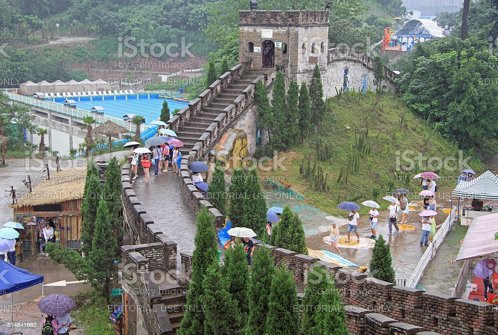 miniature of the great chinese wall in park, Chongqing stock photo