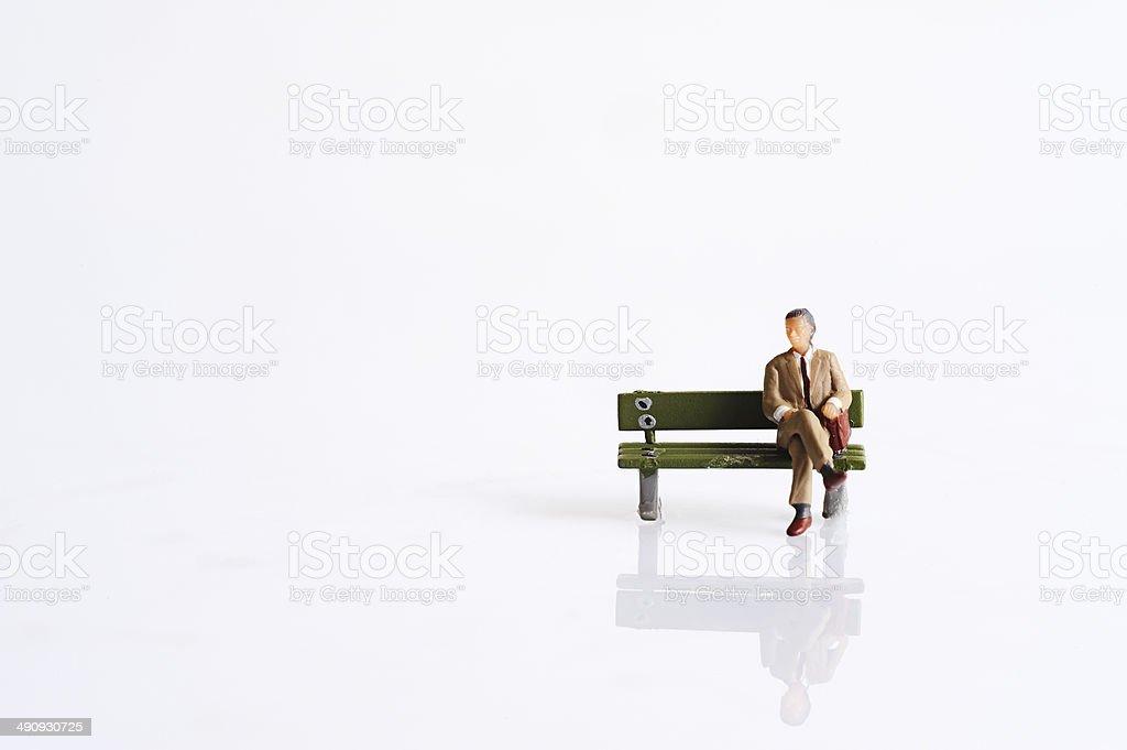 Miniature people stock photo