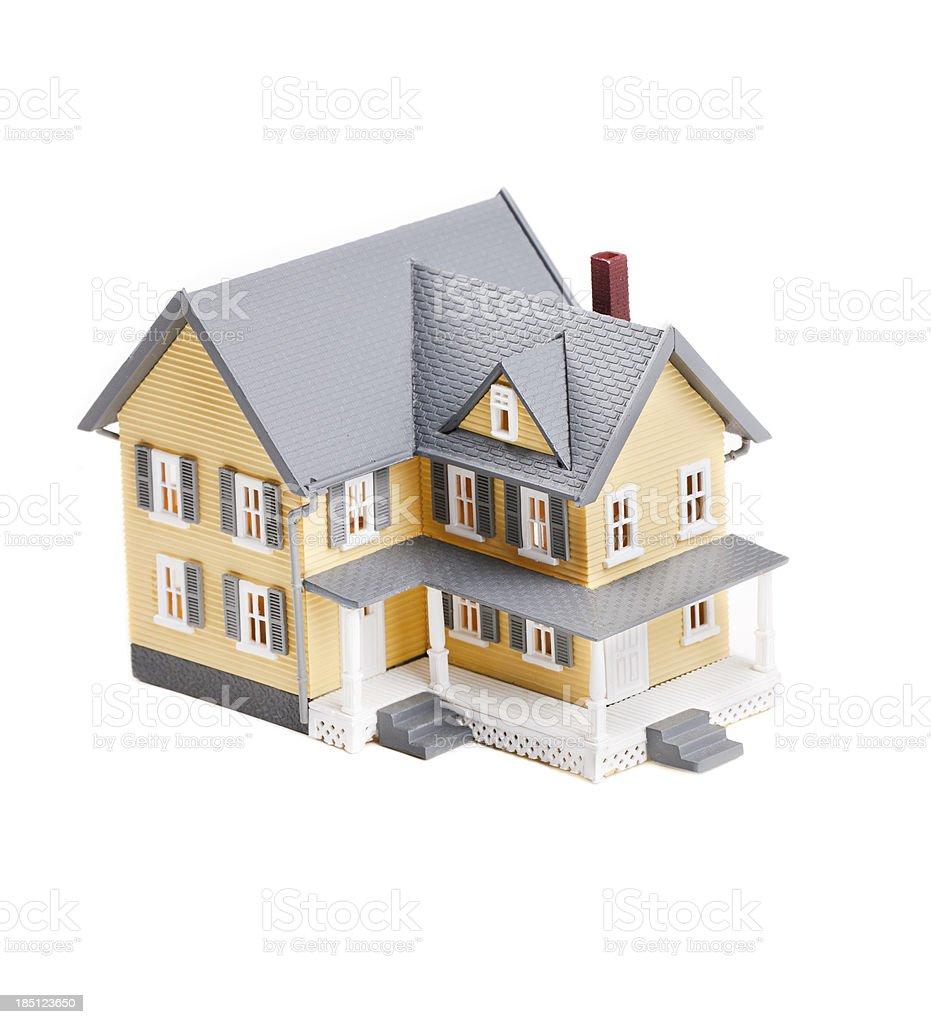 Miniature Plastic Model Home stock photo