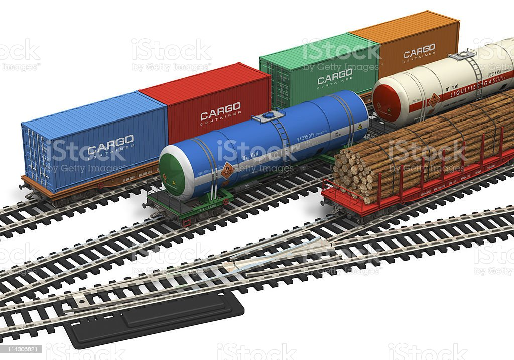 Miniature railroad models royalty-free stock photo