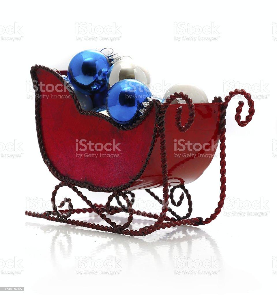 miniature sleigh royalty-free stock photo