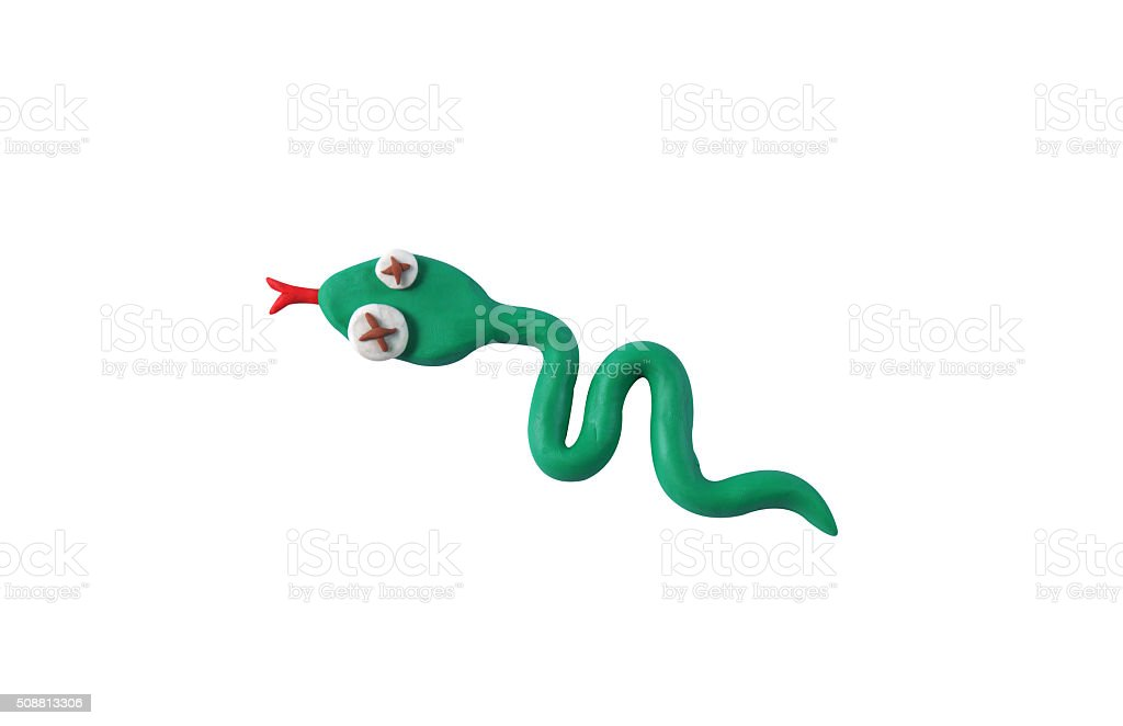 miniature snake model from japanese clay stock photo