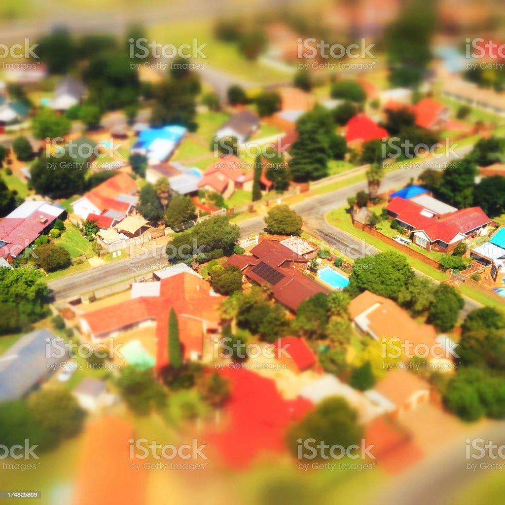 Miniature suburbs royalty-free stock photo