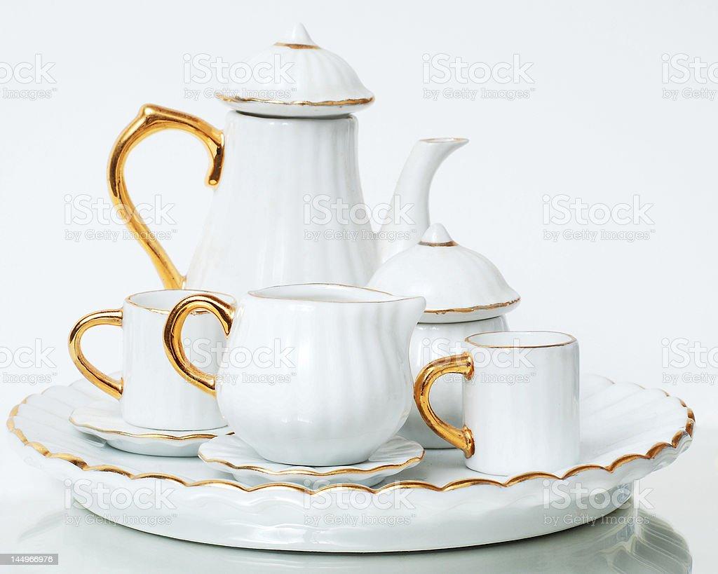 Miniature Tea Set 2 royalty-free stock photo