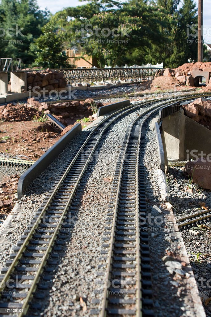 Miniature Train Layout - G Gauge stock photo