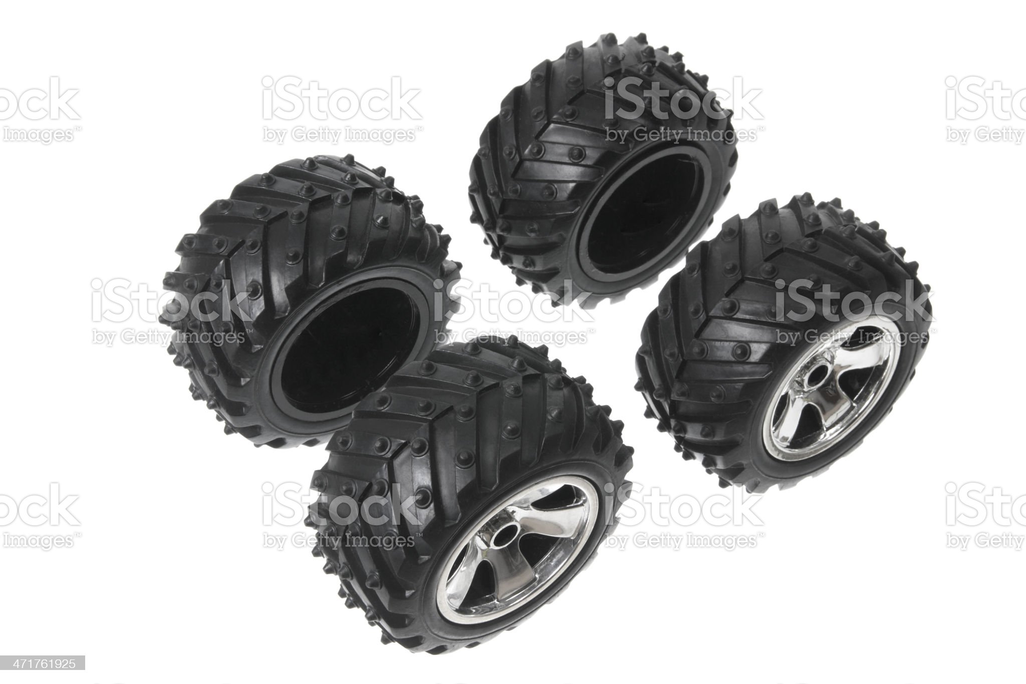 Miniature Tyres royalty-free stock photo