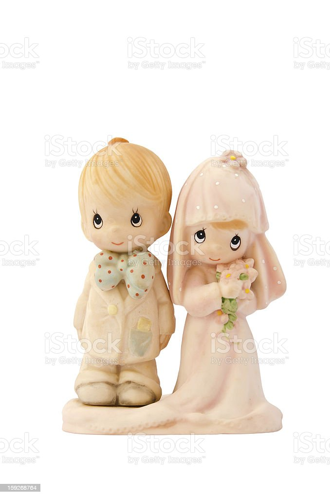 miniature wedding couple doll royalty-free stock photo