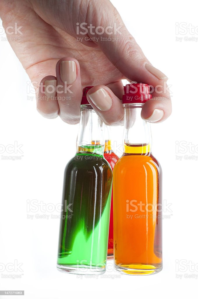 MiniBar bottles with alcohol royalty-free stock photo