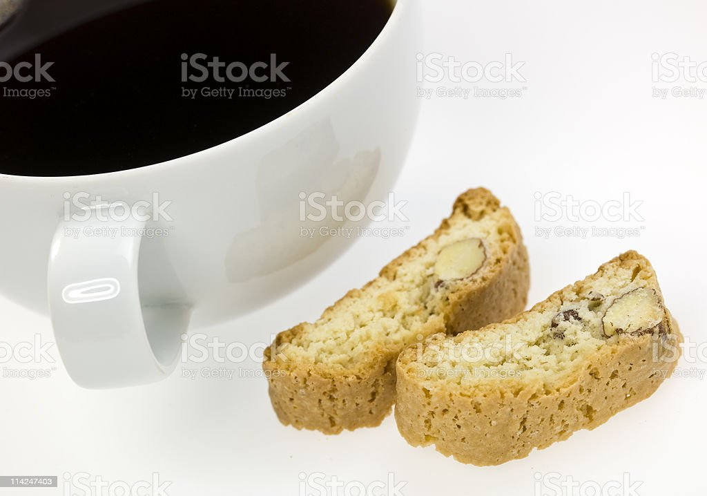 Mini-Biscottis and Coffee royalty-free stock photo
