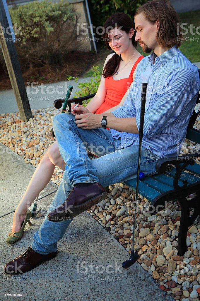 Mini-Golf Date royalty-free stock photo