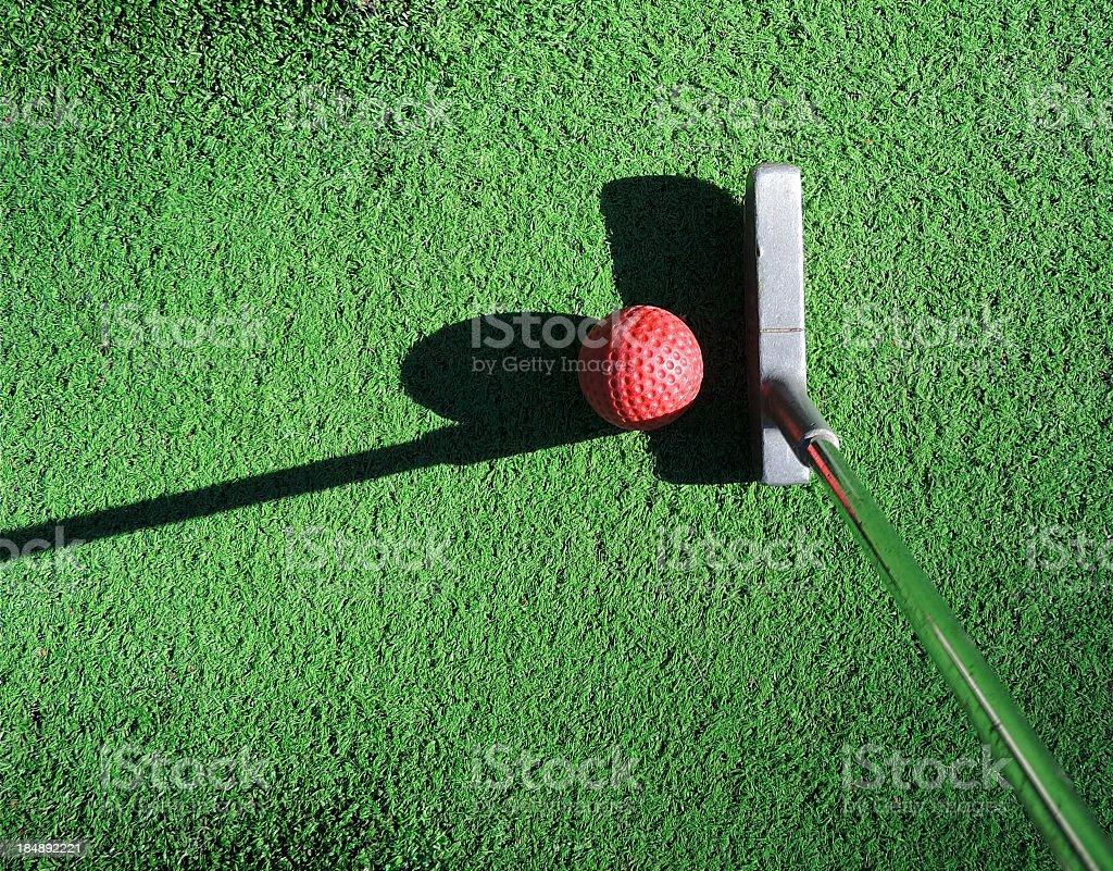 minigolf tee stock photo