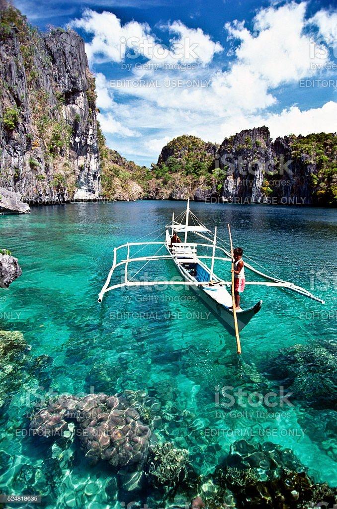 Miniloc lagoon stock photo