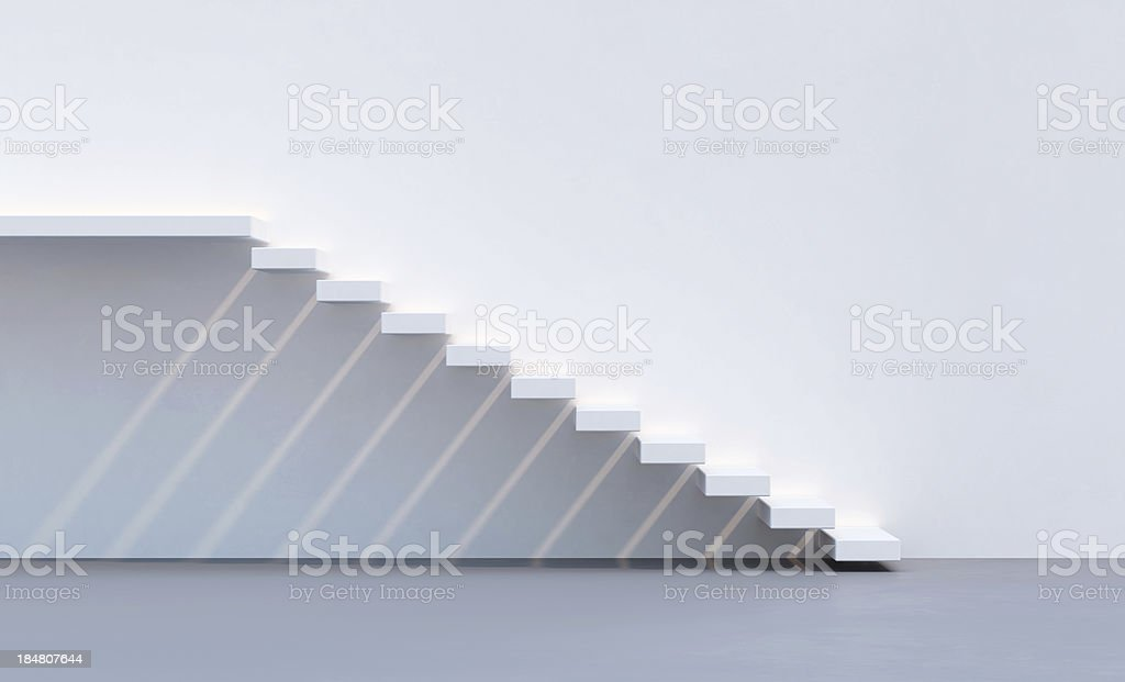 minimalism style stairs stock photo