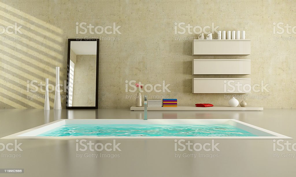 minimalist bathroom royalty-free stock photo