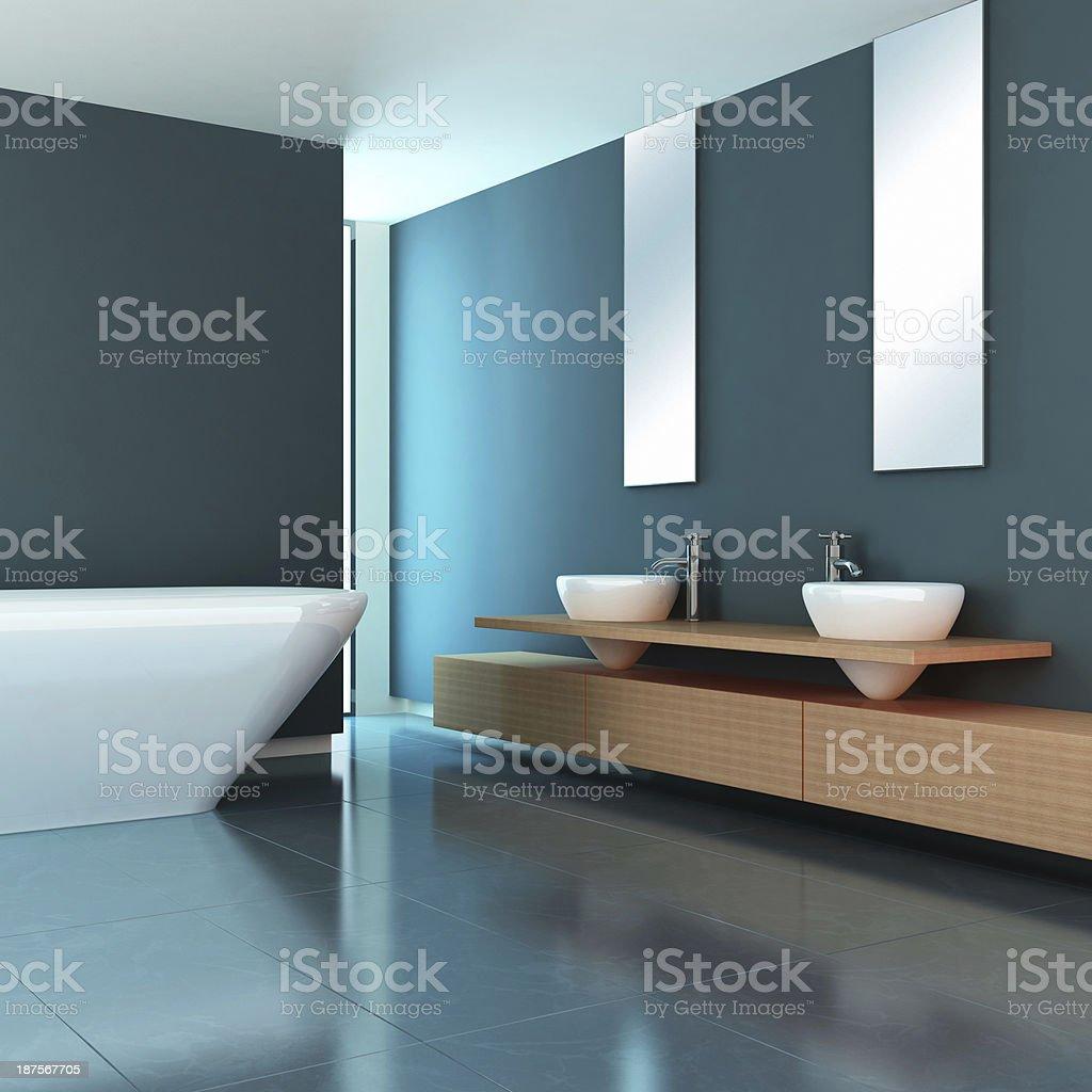 Minimalist Bathroom stock photo