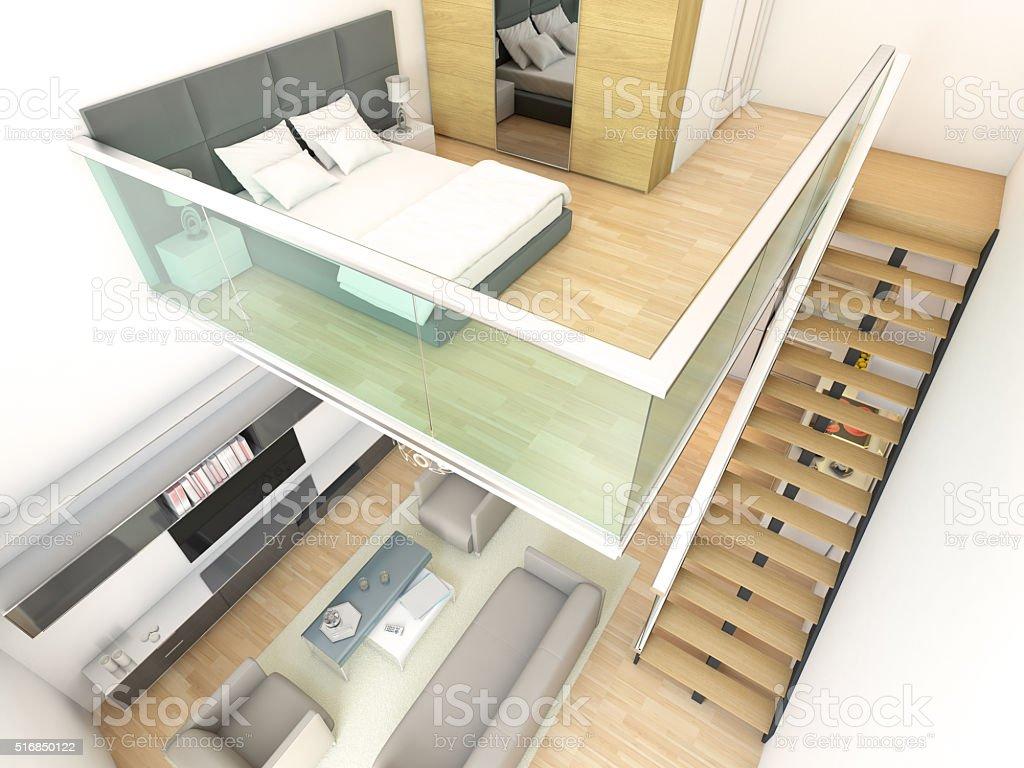 D plex minimalista y dos pisos con casa de dise o interior for Duplex home interior designs