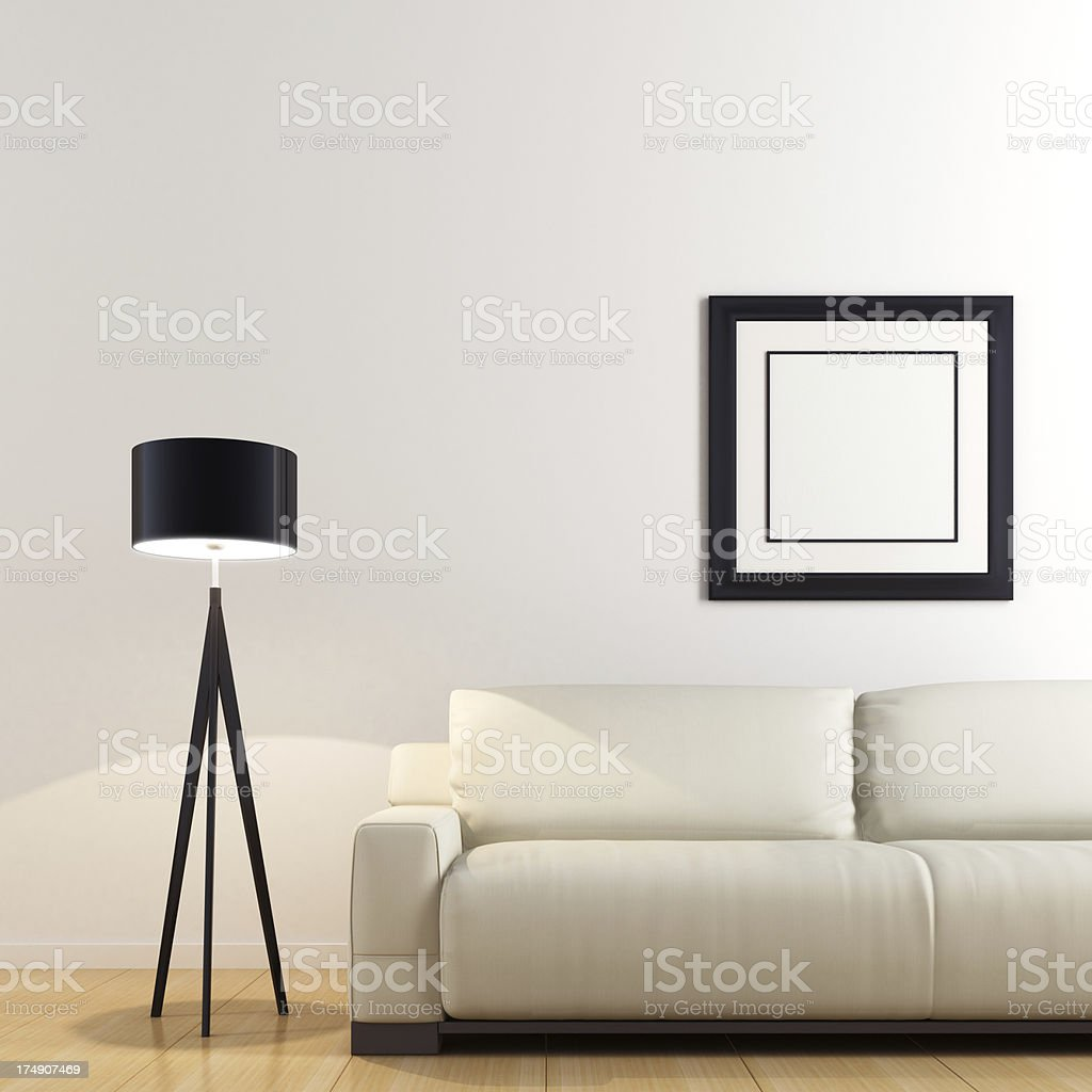 Minimalist Interior royalty-free stock photo