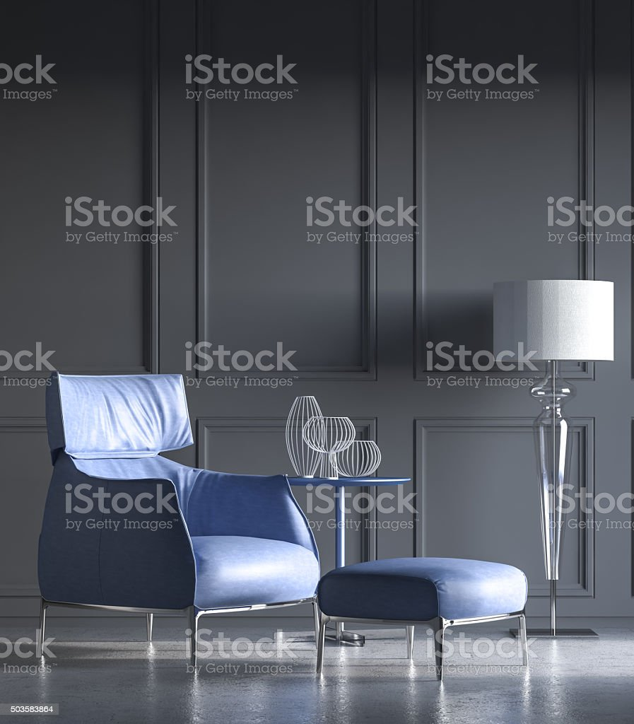 Minimalist interior stock photo