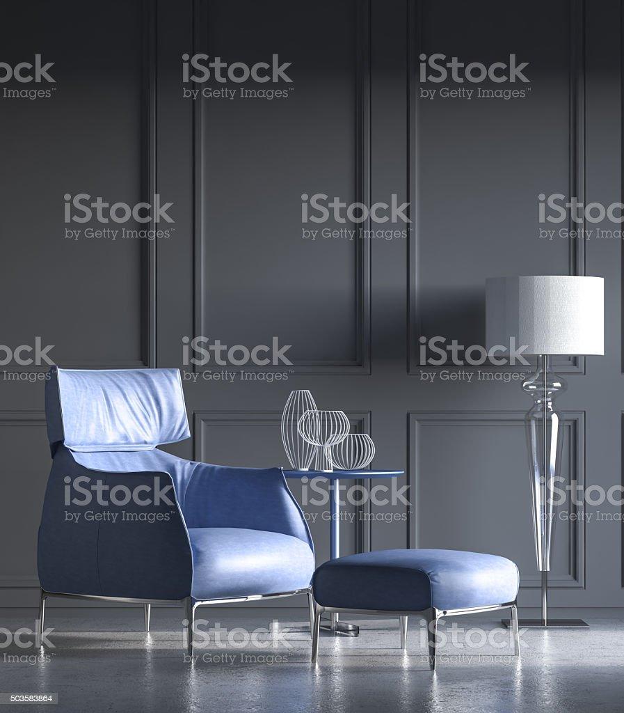 Minimalist interior stock photo