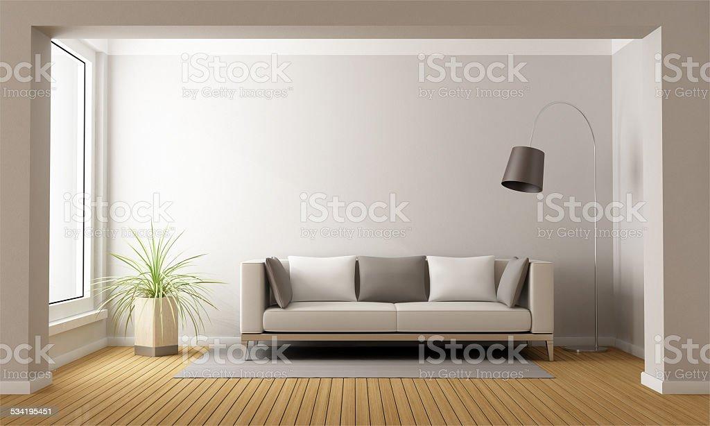 Minimalist living stock photo