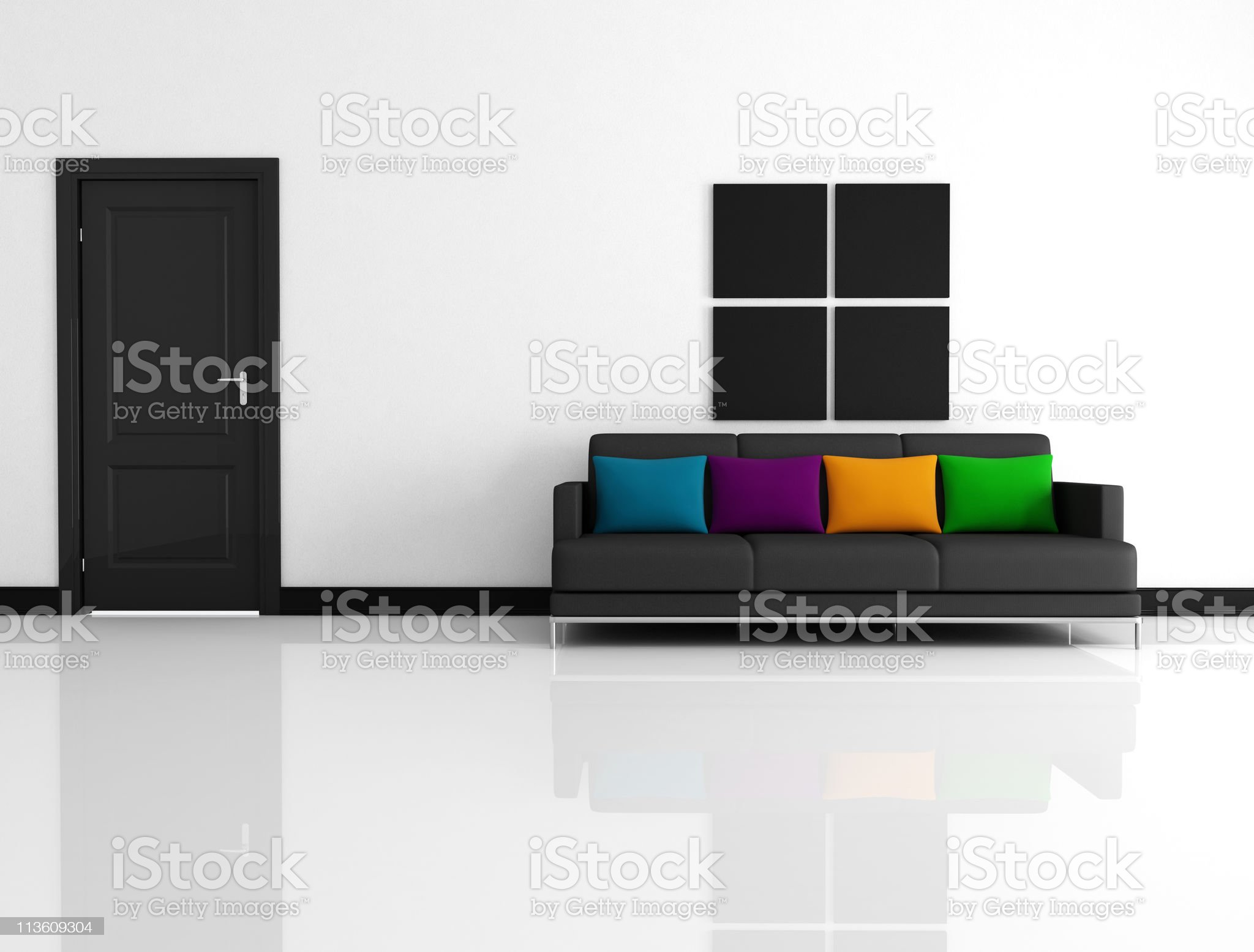 minimalist living room royalty-free stock photo