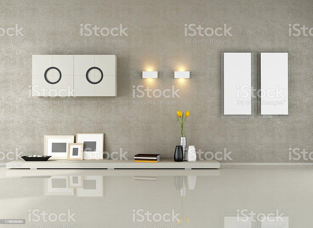 minimalist living room royalty-free stock photo