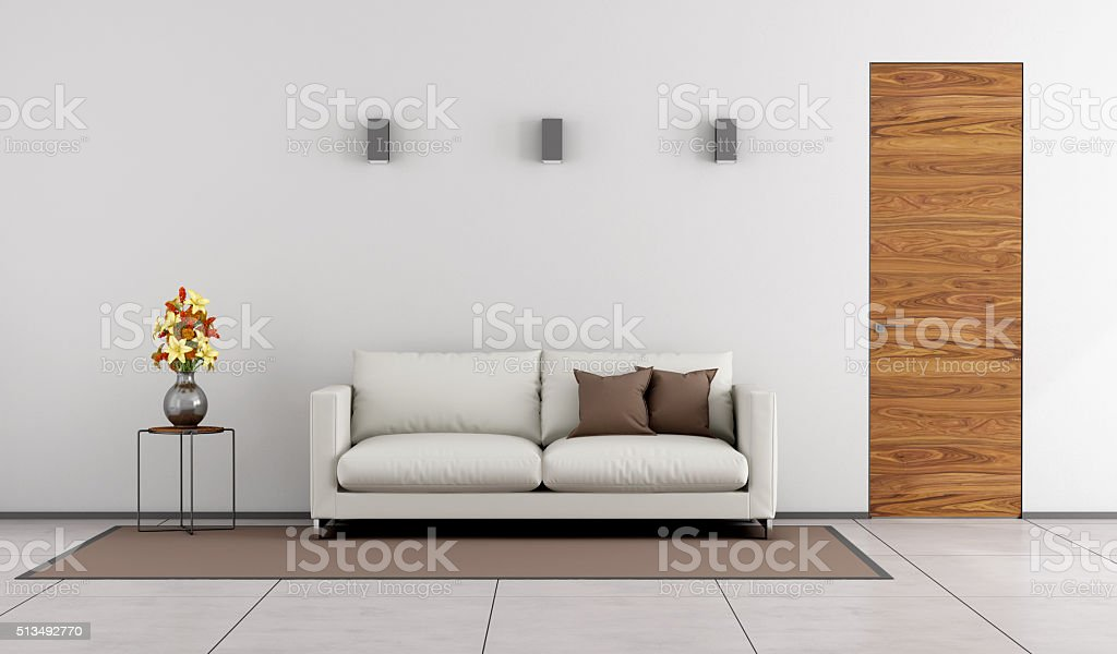 Minimalist living room stock photo