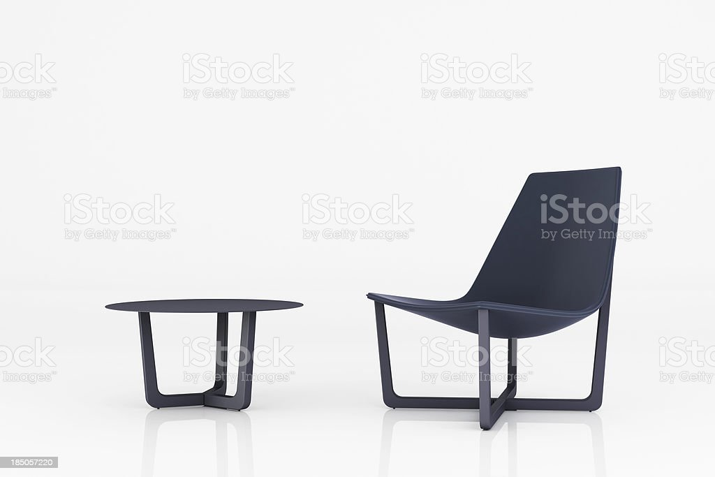 Minimalist Lounge - Clipping path royalty-free stock photo