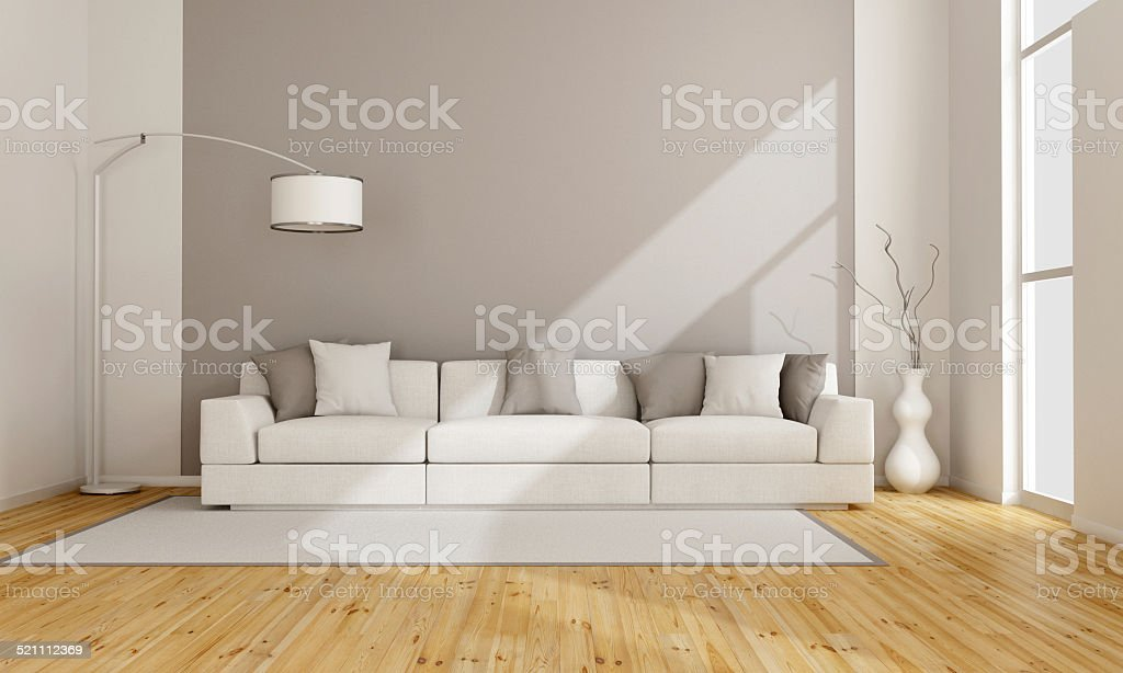Minimalist lounge stock photo