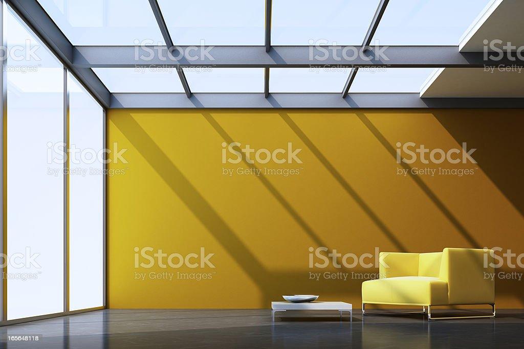 Minimalist Lounge Room royalty-free stock photo