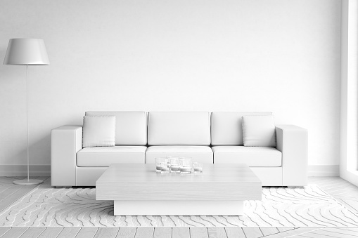 Living room pictures images and stock photos istock for White minimalist living room