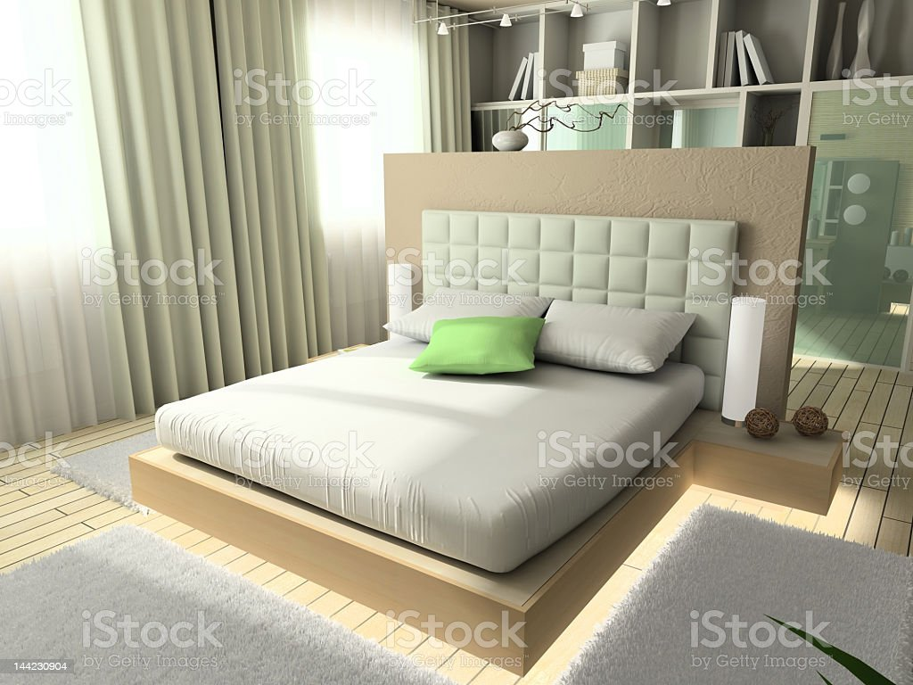 Minimalistic home interior design in pale shades royalty-free stock photo