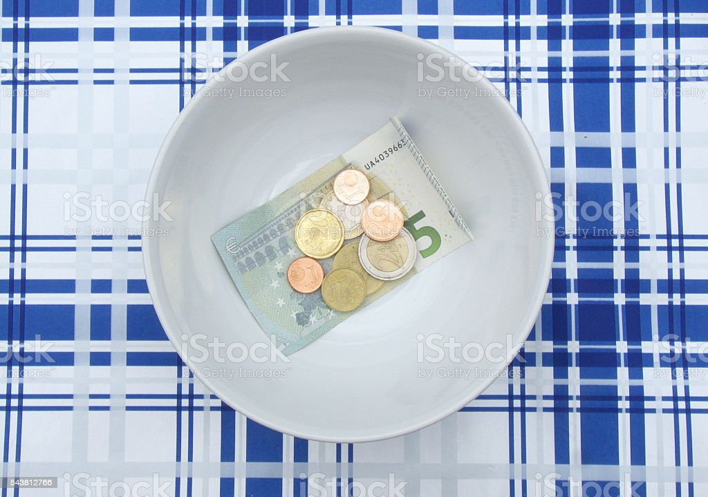 minimum income stock photo