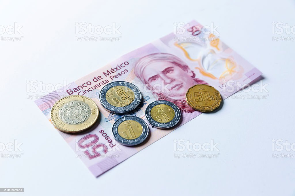 Minimum wage in Mexico 2014 stock photo