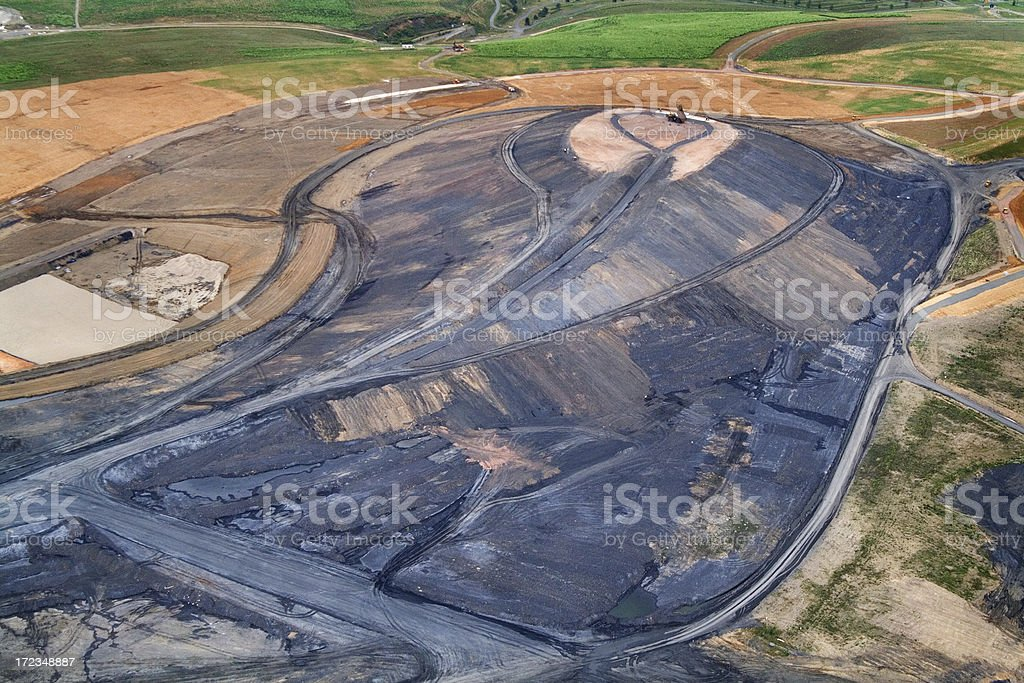 Mining area stock photo