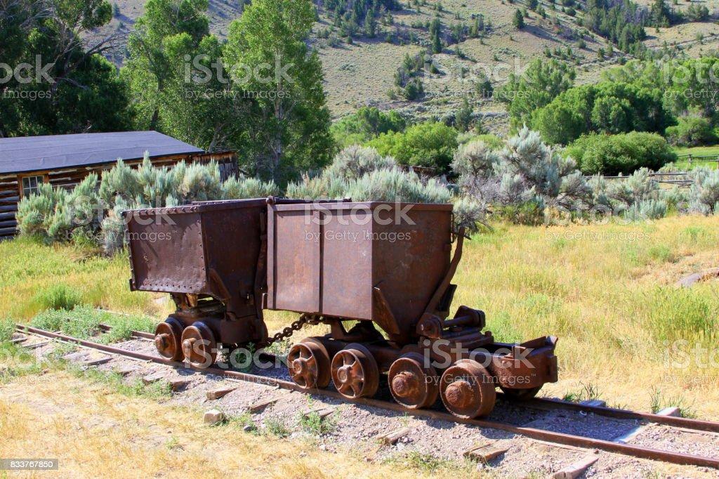 Mining carts stock photo
