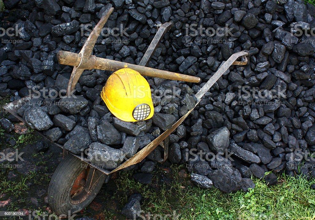 Mining coal stock photo