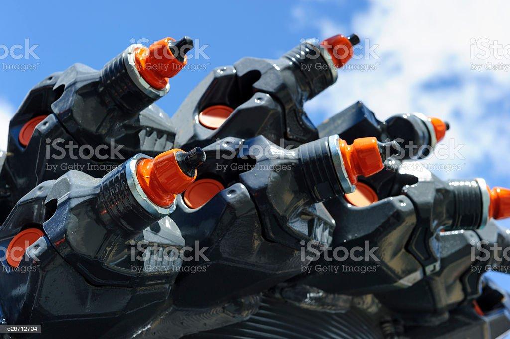 Mining drilling equipment stock photo