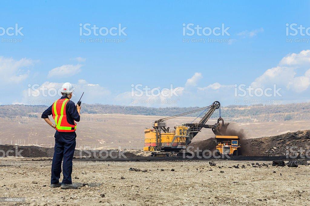 Mining Engineer stock photo